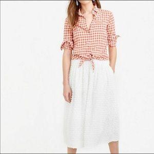 J Crew Bradbury fil coupé cotton skirt